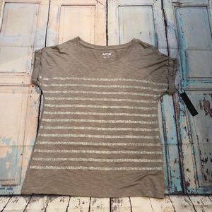 Taupe Apt 9 top size L NWT